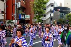 元気川口・御成道サンバ行列(川口宿コース)